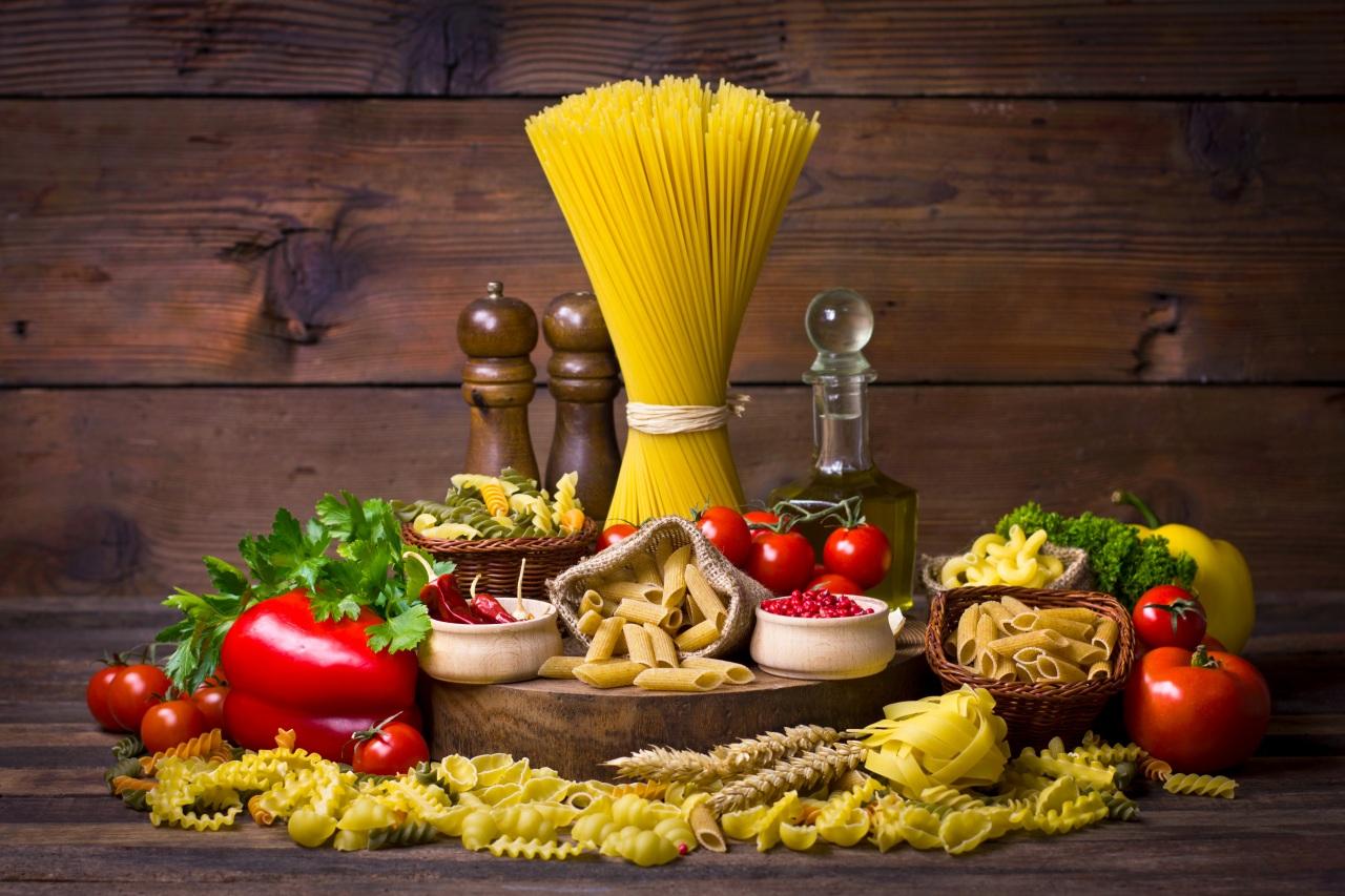 varietate de preparate din paste